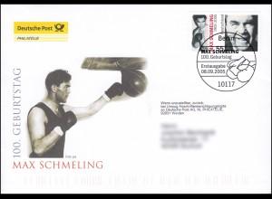 2489 Boxweltmeister Max Schmeling, Schmuck-FDC Deutschland exklusiv