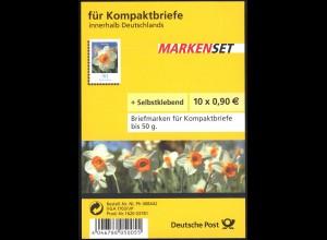 FB 1a Narzisse Folienblatt 10x2515 Nr. 1620 03781, mit Grünem Punkt, **