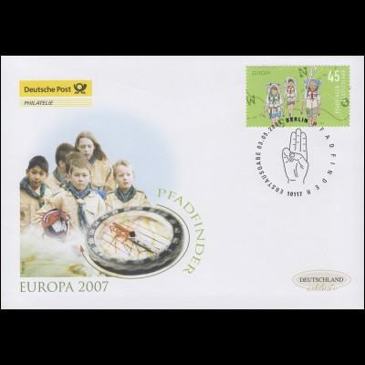 2600 Europa - Pfadfinder, Schmuck-FDC Deutschland exklusiv