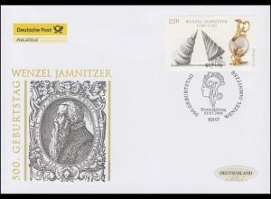2639 Goldschmied Wenzel Jamnitzer, Schmuck-FDC Deutschland exklusiv