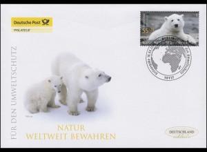 2656 Umweltschutz - Berliner Zoo Eisbär Knut, Schmuck-FDC Deutschland exklusiv