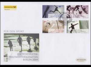 2727-2730 Sporthilfe Leichtatlethik-WM,Satz auf Schmuck-FDC Deutschland exklusiv
