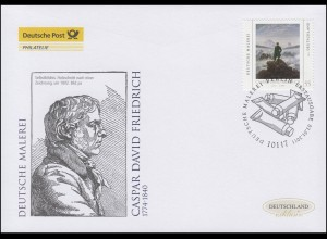 2840 Deutsche Malerei - Caspar David Friedrich, Schmuck-FDC Deutschland exklusiv
