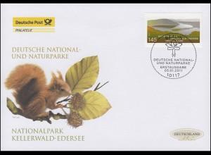 2841 Nationalpark Kellerwald-Edersee, Schmuck-FDC Deutschland exklusiv