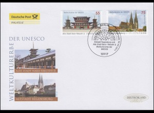 2844-2845 Nara und Regensburg, Satz auf Schmuck-FDC Deutschland exklusiv