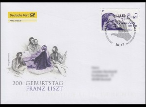 2846 Komponist und Pianist Franz Liszt, Schmuck-FDC Deutschland exklusiv