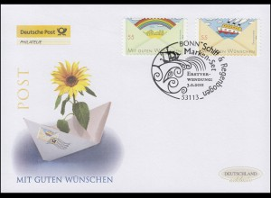 2848-2849 Grußmarken - selbstklebend, Satz auf Schmuck-FDC Deutschland exklusiv