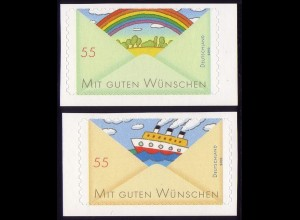 2848-2849 Grußmarken Schiff & Regenbogen aus Folienblatt 13, Satz **