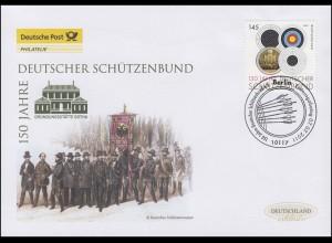 2881 Deutscher Schützenbund, Schmuck-FDC Deutschland exklusiv