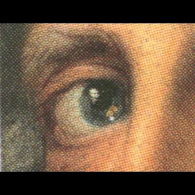 2906I Friedrich der Große mit PLF I weißer Punkt im linken Auge, Feld 9, **