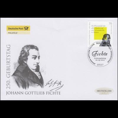 2934 Philosoph Johann Gottlieb Fichte, Schmuck-FDC Deutschland exklusiv