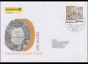 2938 Jubiläum 200 Jahre Grimms Märchen, Schmuck-FDC Deutschland exklusiv