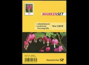 FB 33 Blume Tränendes Herz 100 Cent, Folienblatt mit 10 x 3034, **