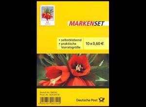 FB 35 Blume Kaiserkrone 60 Cent, Folienblatt mit 10 x 3046, **