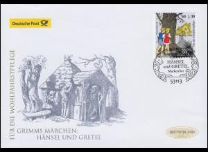 3061 Hänsel und Gretel, selbstklebend, Schmuck-FDC Deutschland exklusiv