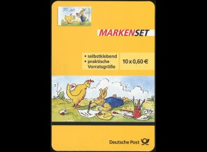 FB 37 Cartoon: Für Dich Ostern, Folienblatt-Dummy aus Plastik mit runden Ecken