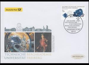 3194 Bergakademie Freiberg, nassklebend, Schmuck-FDC Deutschland exklusiv