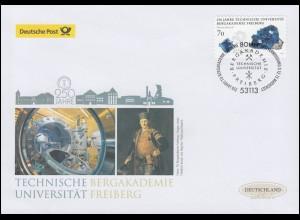 3198 Bergakademie Freiberg, selbstklebend, Schmuck-FDC Deutschland exklusiv