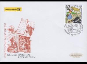 3215 Grimms Märchen: Rotkäppchen, selbstklebend Schmuck-FDC Deutschland exklusiv