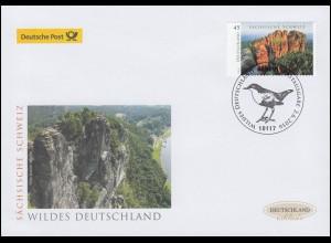 3248 Sächsische Schweiz, nassklebend, Schmuck-FDC Deutschland exklusiv