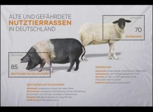 Block 81 Nutztierrassen: Rhönschaf und Deutsches Sattelschwein **