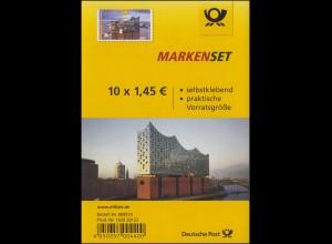 FB 63 Eröffnung der Elbphilharmonie, Folienblatt mit 10x3286, **