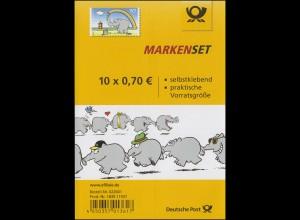 FB 65 Otto Waalkes - Ottifant, Folienblatt mit 10x3295, **