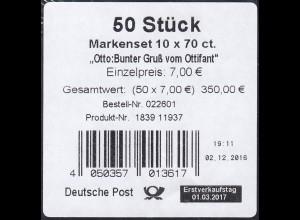 FB 65 Otto Waalkes - Ottifant, Folienblatt-BANDEROLE