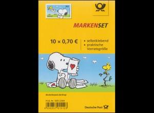 FB 73 Post für Snoopy, Folienblatt mit 10x3371, **