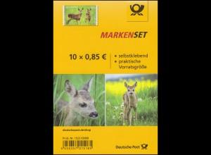 FB 75 Tierkinder Reh / Rehkitz, Folienblatt mit 10x3377, **