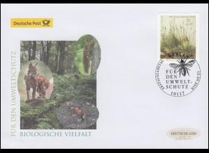 3411 Umweltschutz: Biologische Vielfalt, Schmuck-FDC Deutschland exklusiv