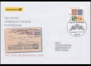 3412 Norddeutscher Postbezirk, Schmuck-FDC Deutschland exklusiv