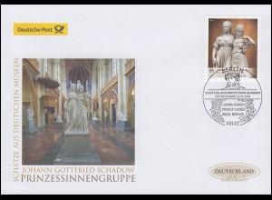 3416 Schadow: Prinzessinnengruppe, Schmuck-FDC Deutschland exklusiv