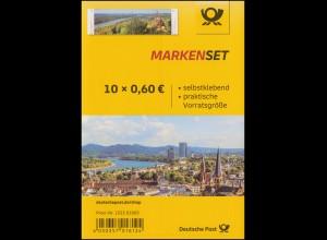 FB 96 Panorama Bonn / Siebengebirge, Folienblatt mit 5x 3517-3518, **