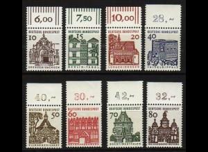 454-461 Bauten 8 Werte, Oberrand-Satz, ** postfrisch