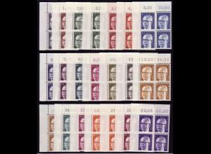 635 ff Heinemann 21 Werte, ER-Viererblock o.l., Satz ** postfrisch