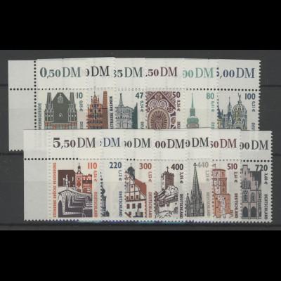 2139 ff SWK 13 Werte mit Doppelwährung komplett, Ecken oben links **