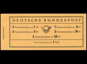 4YI MH Heuss und Ziffer, seltenere ERSTauflage 1960 - RLV II, **