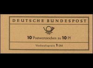 6b MH Heuss 1960 Versuchs-MH, postfrisch **