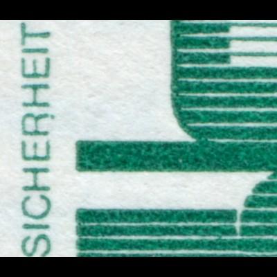 MH 15II Unfallverhütung mit PLF 697III Punkt am R von SICHERHEIT, Feld 1, **