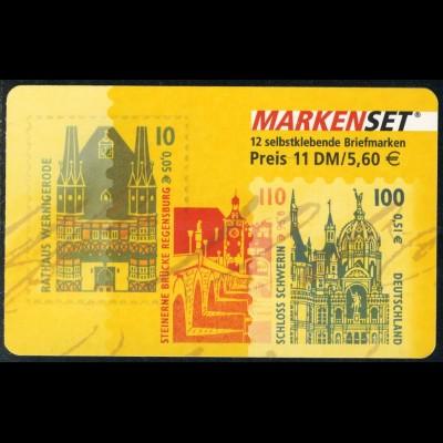 43 MH SWK Sehenswürdigkeiten 2001, selbstklebend, postfrisch **