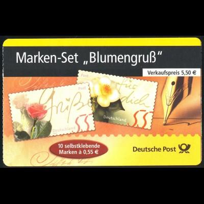 55 a MH Blumengruß - gelbe Fluoreszenz **