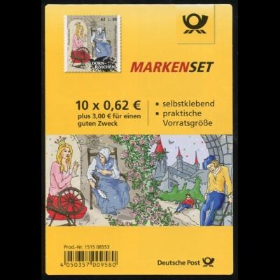 98 MH Grimms Märchen: Dornröschen 62 Cent, Erstverwendungsstempel Bonn 5.2.2015