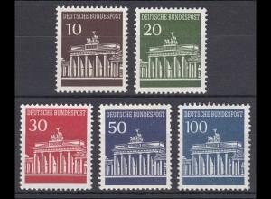 506-510v Brandenburger Tor, Satz mit Nummer, Dextringummierung **