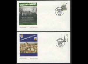 2156-2157 SWK 2001 mit Nummer FDC Berlin