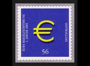 2236 Euro selbstklebend, mit GERADER Nummer, postfrisch