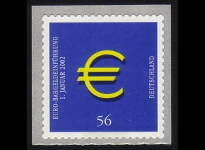 2236 Euro sk, mit Zählnr. 100, Rollenanfang, postfrisch