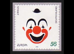 2272 Europa Clown selbstklebend GERADE Nummer, postfrisch **