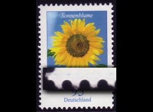 2434 Blume 95 Cent mit Druckfehler blauer Strich LINKS, mit Zählnummer **