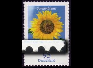 2434 Blume 95 Cent mit Druckfehler blauer Strich RECHTS, mit Zählnummer **